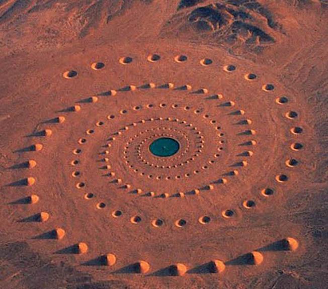 Spirale dans le désert