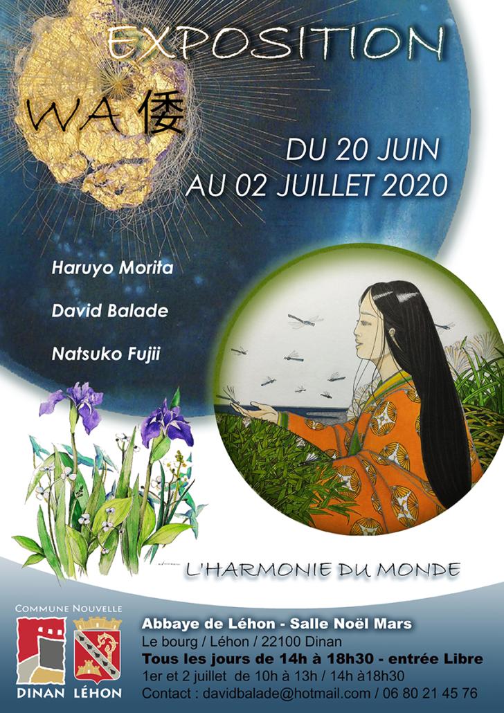 Affiche Exposition Wa David Balade Lehon 2020
