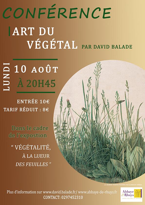 Affiche conference art du vegetal