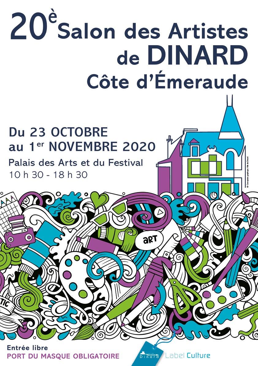 Affiche Salon des artistes Dinard 2020