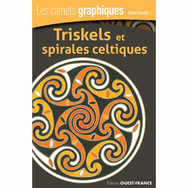 couverture carnet graphique: triskels et spirales celtiques