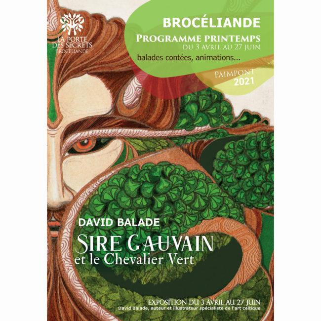 Affiche exposition Sire Gauvain et le Chevalier Vert Paimpont 2021
