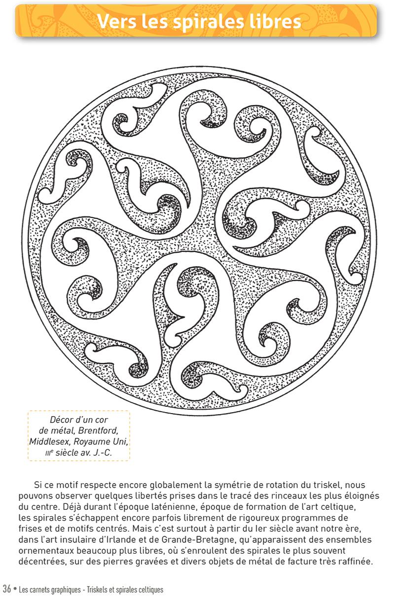 Carnet graphique: triskels et spirales celtiques page 36