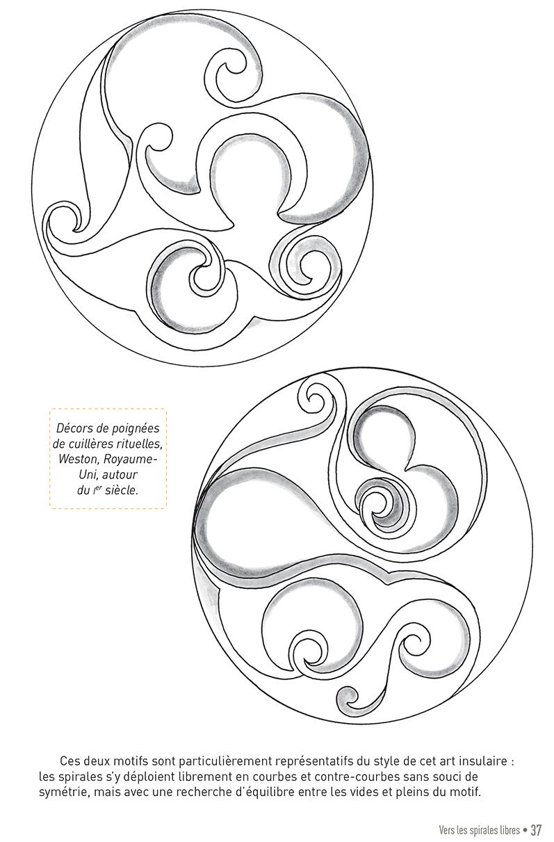 Carnet graphique: triskels et spirales celtiques page 37