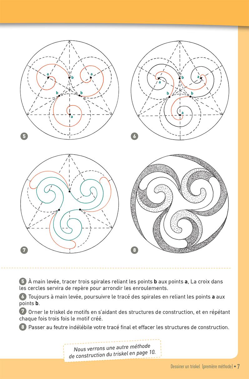Carnet graphique: triskels et spirales celtiques page 7