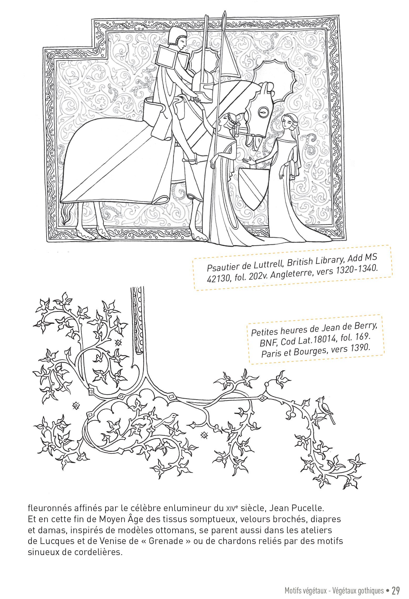 p29 carnet graphique motifs medievaux