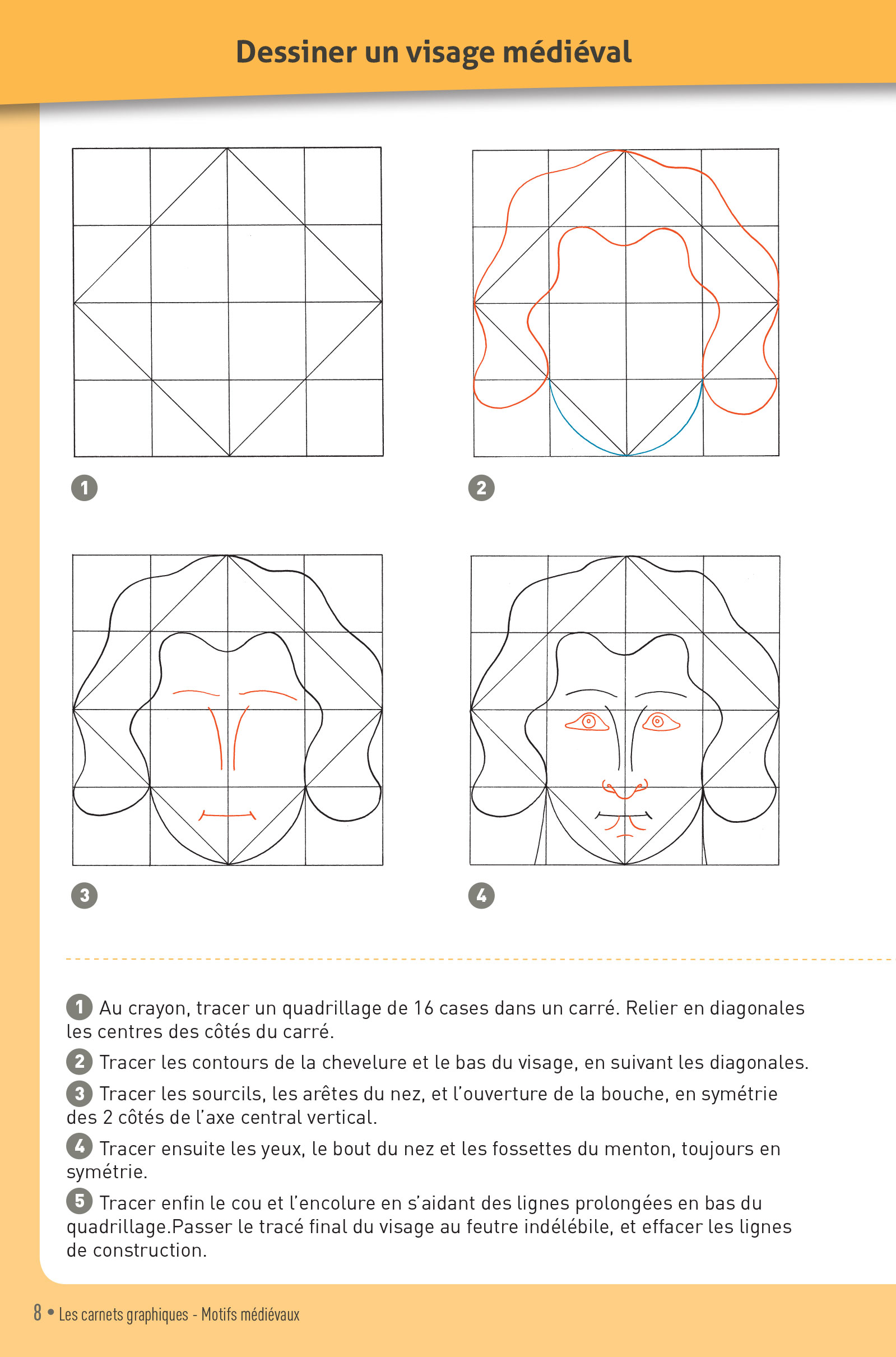 p.8 Carnet graphique motifs mediévaux