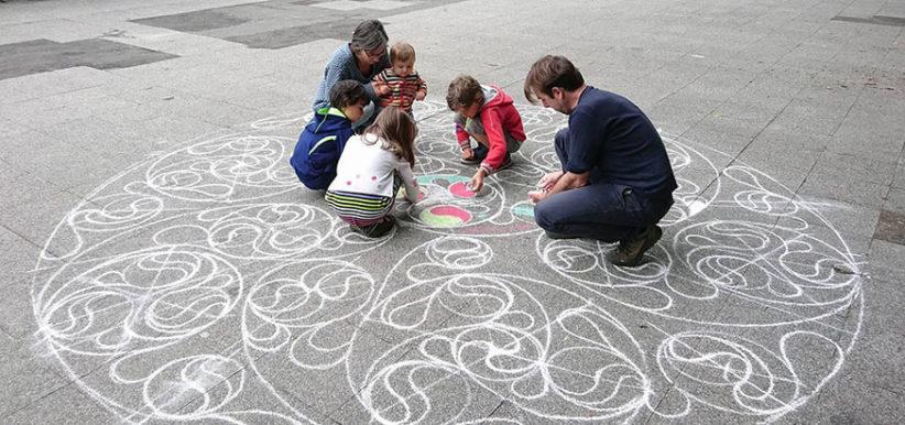 Mandala celtique géant participatif