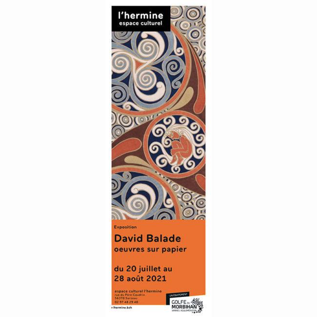 Affiche exposition Sarzeau David BALADE 2021